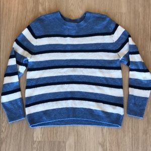 H&M Blue and White Striped Sweater